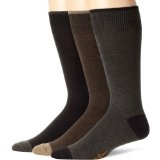 Dockers Men's 3-Pack Metro Crew Socks, Brown/Charcoal/Black, 8-12 (Apparel)By Dockers