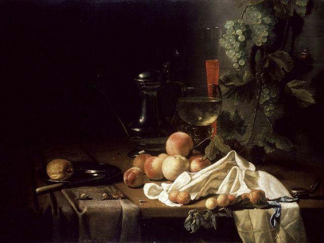 Calraet, Abraham van (1642 - 1722), attributed to, 'Still Life with Fruit'  Натюрморт с фруктами. Ашм. музей Оксфордского университета , Великобритания