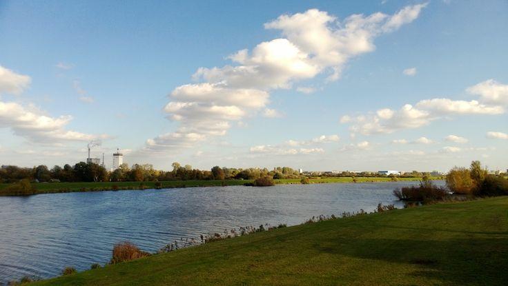 View from Karl Carstens Bridge, Bremen