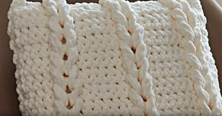 The Texture On This Chain Links Pillow Is So Fun! Learn How To Make It Here.