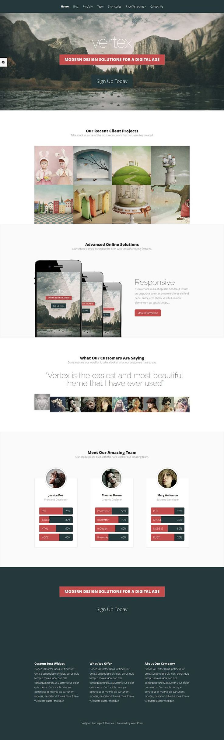 Vertex is a stunning theme built for service providers that want to showcase their equally stunning products.