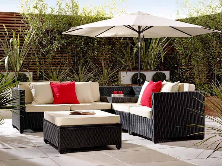 Black Valencia Modular Sofa   Set Includes An Integral Corner Rattan Coffee  Table And Footstool   Garden Ideas 2015   By Living It Up