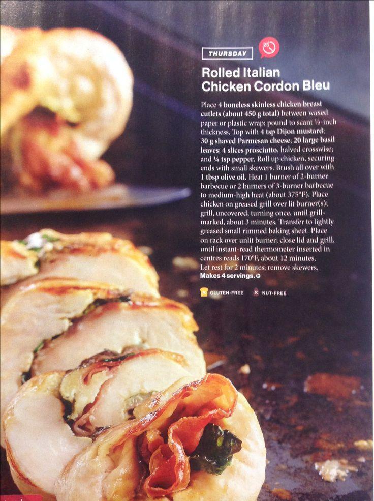 Rolled Italian chicken cordon Bleu