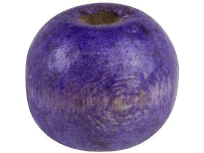 Wood Beads - 14mm, Dark Purple, 50pcs