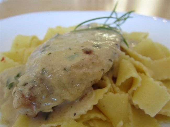 Csirkemell tárkonyos-mustáros szószban - csirkemell receptek