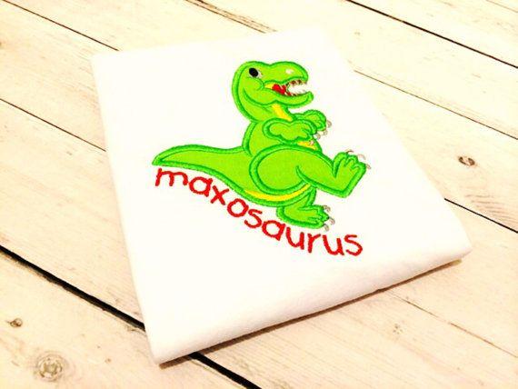 Dinosaur Personalised Kids Tee - Maxosaurus