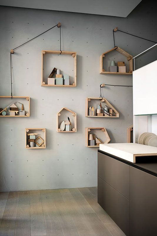 How fun is this display? You can then move the pegs and shelves......