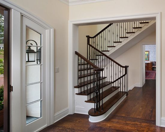 Wrought iron balusters and newels