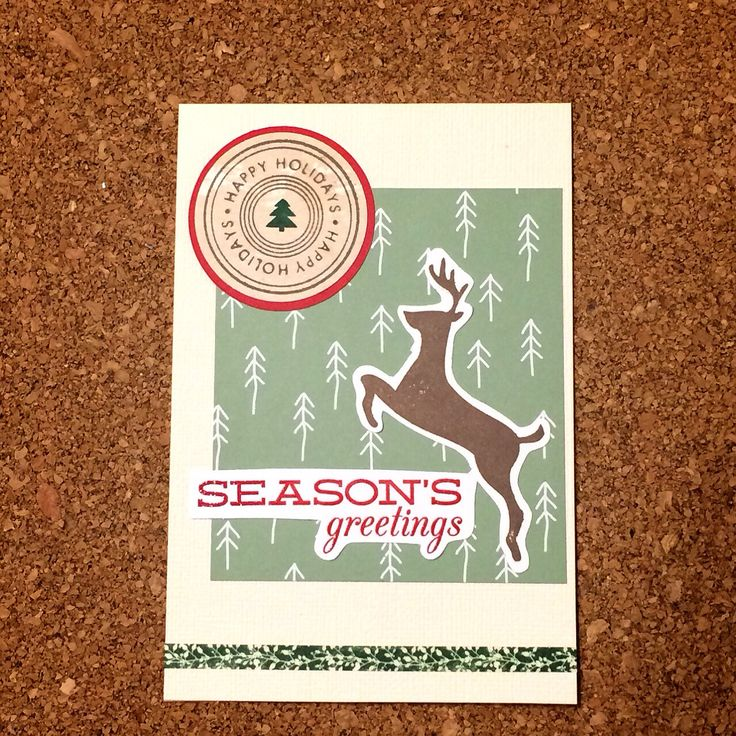Hand stamped Christmas card