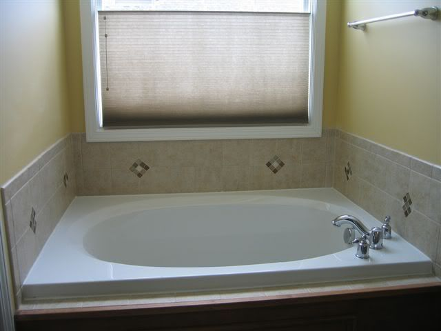 Tile around a garden tub should look something like this for Garden tub designs