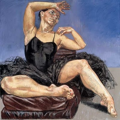 Paula Rego:  Her work often reflects an aggressive feminism, coloured by folk-themes from her native Portugal.
