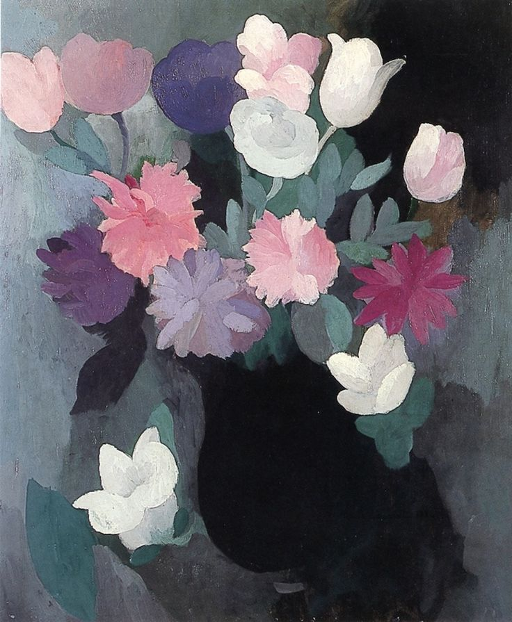 Bouquet of Flowers, 1926 by Marie Laurencin (French, 1883-1956)