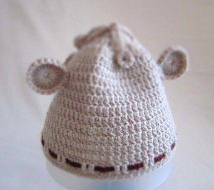 Dark Champagne Wool Bear Baby Hat  612mos by MyMayaMade on Etsy, $24.99
