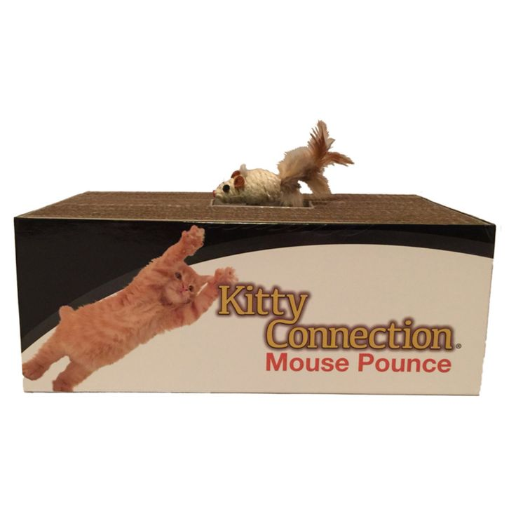 Kitty Connection Mouse Pounce Inside Corrugated Box with Sisal - 559-95