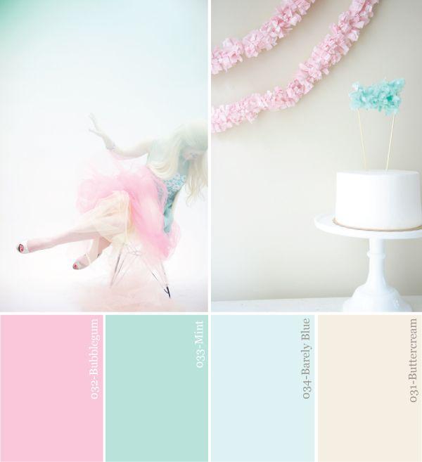 de kleuren voor op de babykamer