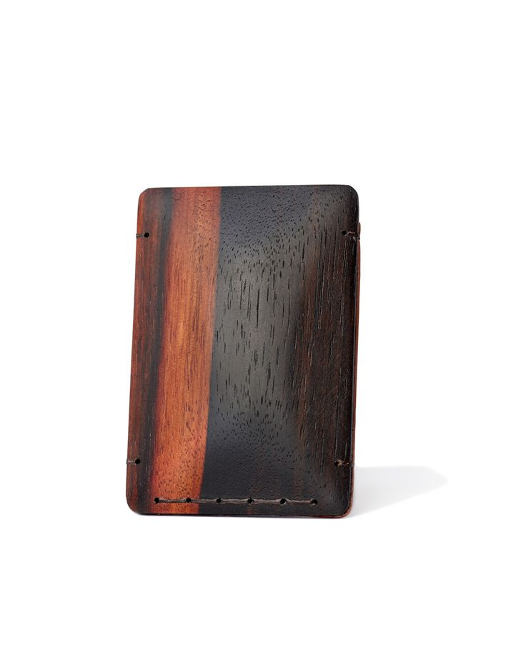 The Ellington from MAISON 630 Macassar Ebony Wood + Horween Leather Cardholder/Wallet