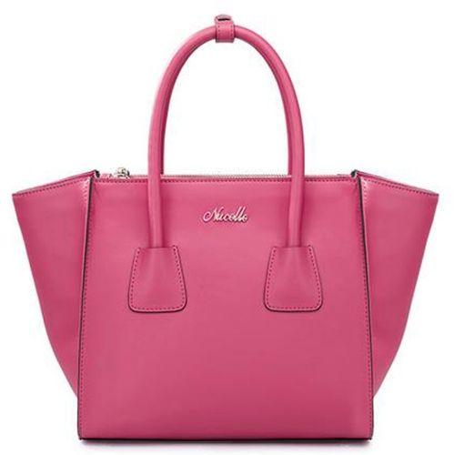[$35.91] NUCELLE Retro PU Leather Women Cross Grain Wing Style One Shoulder Handbag (Magenta)