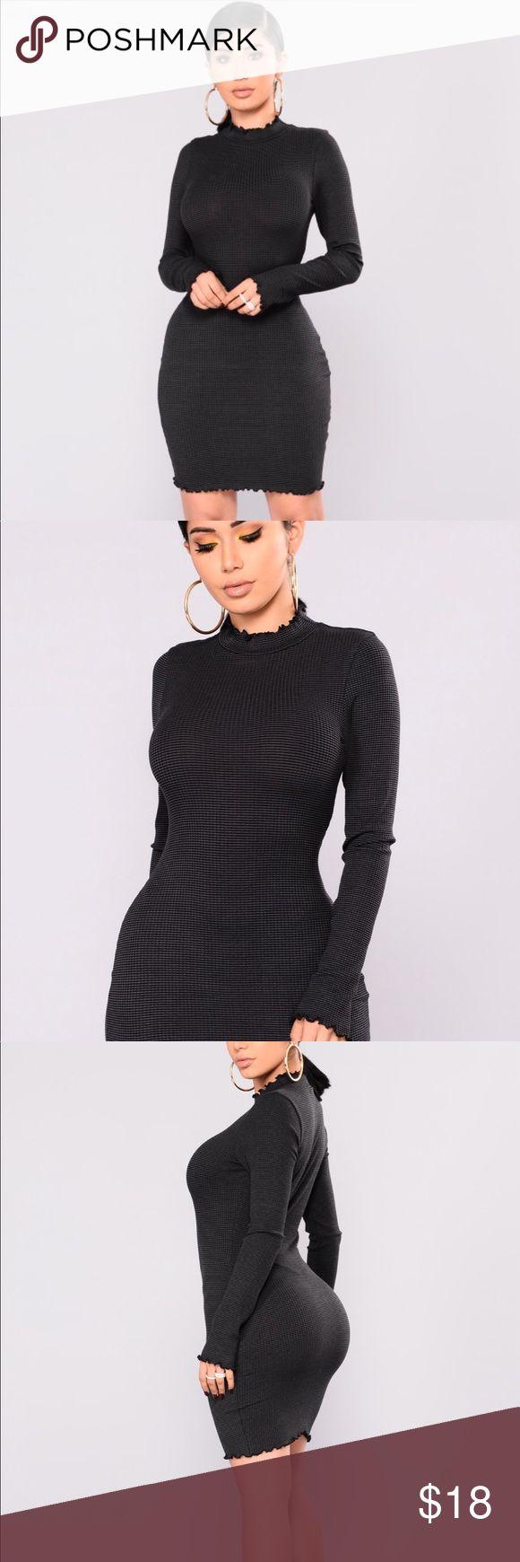 Fashion Nova Striped Bodycon Dress XS Brand new dress from Fashion Nova Striped Bodycon style with cute neckline  XS Fashion Nova Dresses