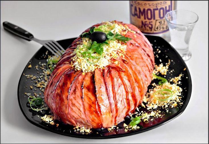 Салат Мимоза с карамелизованным лососем. пошаговый рецепт с фотографиями