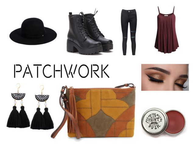 """All Patched Up"" by gothicvamperstein on Polyvore featuring Sam Edelman, Siggi and patchwork"