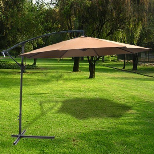Deluxe Natural 10 Offset Patio Umbrella provides shade while positioning the pole out of the way. Great 10 foot umbrella! http://www.umbrellaforsale.com/deluxe-natural-10-offset-patio-umbrella-off-set-outdoor-market-umbrella/