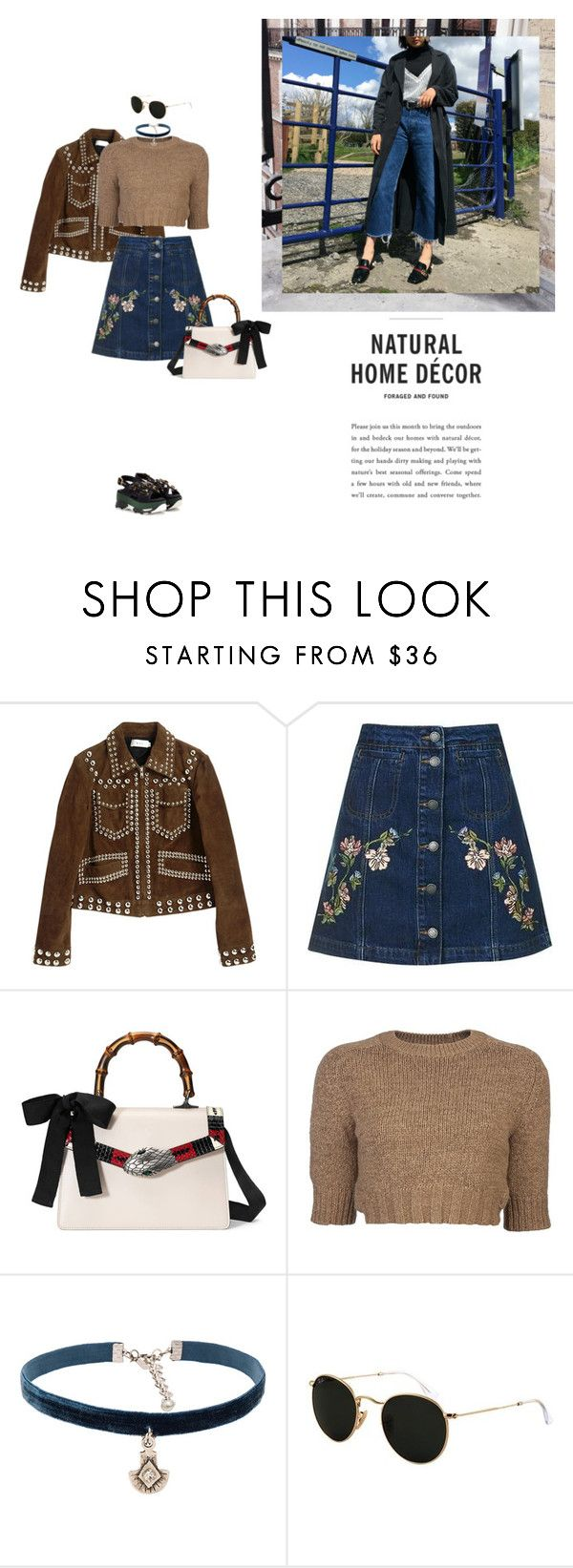 """""""Untitled #2200"""" by yenybarriot on Polyvore featuring A.L.C., Topshop, Gucci, Carven, Natalie B, Ray-Ban and Marni"""