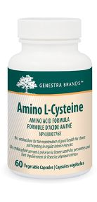 Amino L-Cysteine by Genestra. Amino L-Cysteine contains this non-essential amino acid as an antioxidant for the maintenance of good health for those participating in regular intense exercise.
