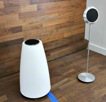 """BO """"beolab 14"""". 3.1 is now preference. White sub would match doors on Walnut unit that have been sprayed off white."""