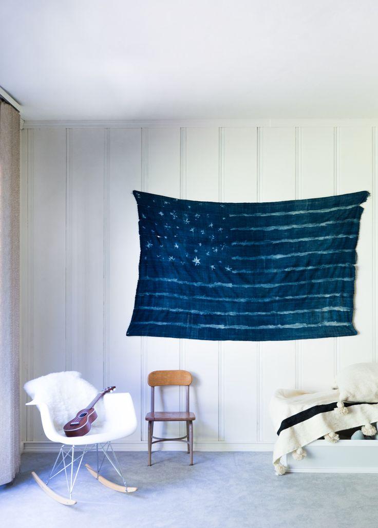 I love indigo mudcloth textiles. I wrap Dot in one, I drape my dining table with…