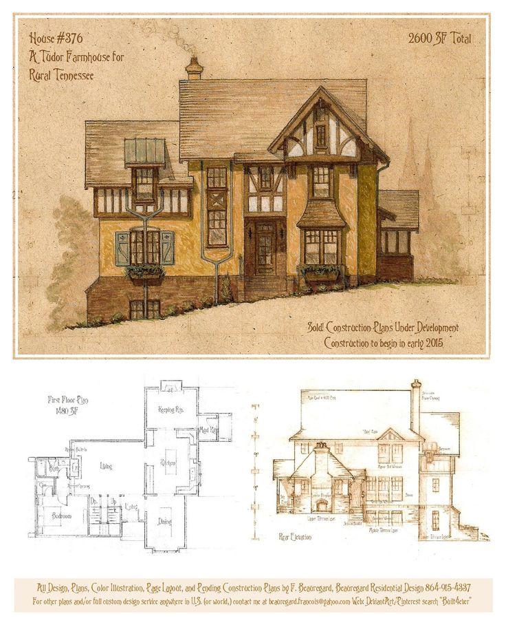 House 376 Tudor Farmhouse by Built4ever.deviantart.com on @DeviantArt