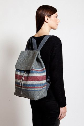 Greek label TELLER focus on backpack design and this Grey Backpack with colourful stripes, is one of the 5 designs of the capsule collection made exclusively for ozonboutique. com. Discover TELLER!