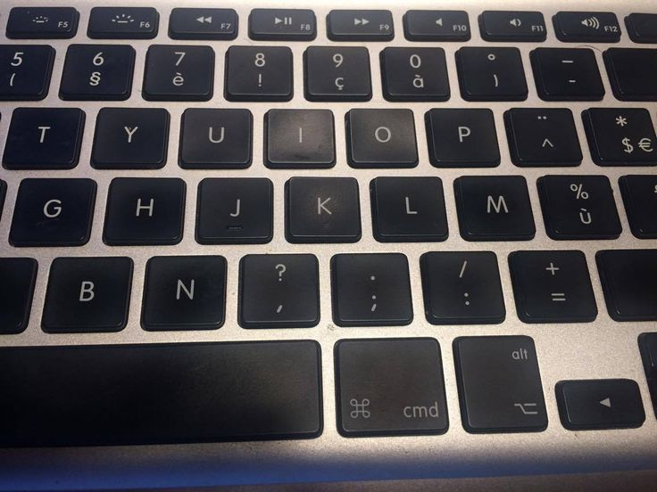 De toetsen op het toetsenbord zijn allemaal kleine vlakjes