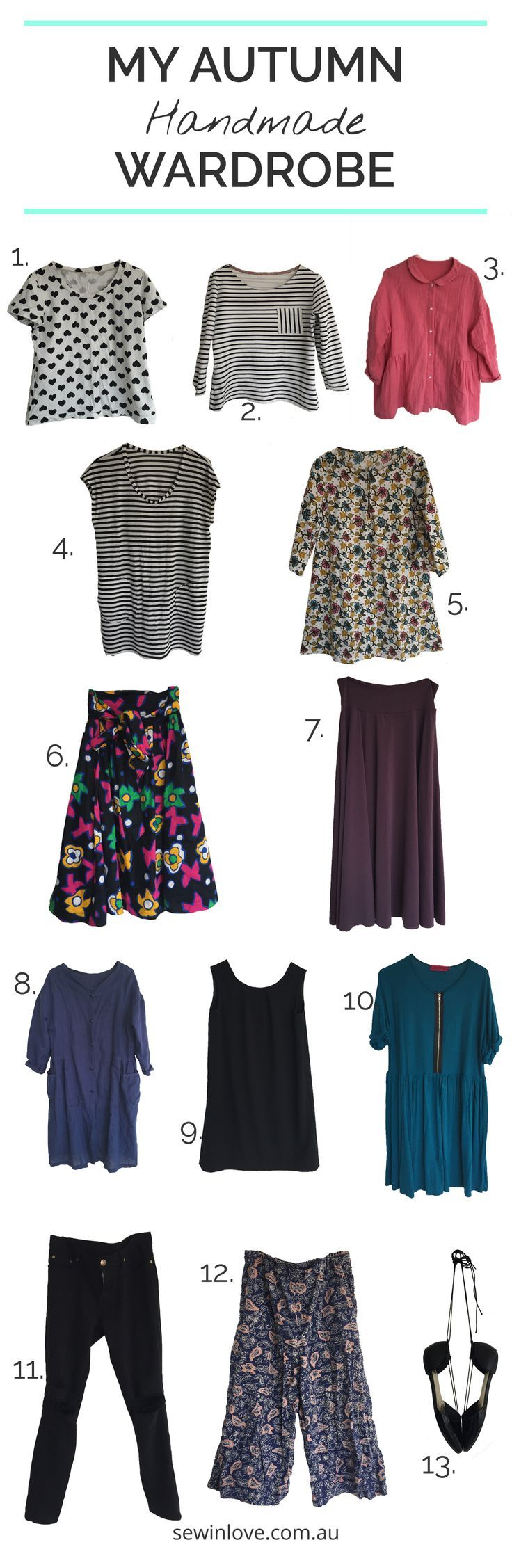 My Handmade Clothes | This is a fall capsule wardrobe made of handmade clothing items. Each piece has its own unique story!