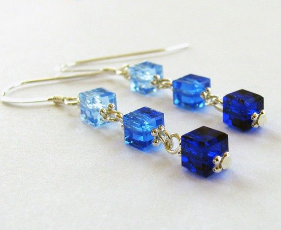 I am in love with Swarovski cube beads!