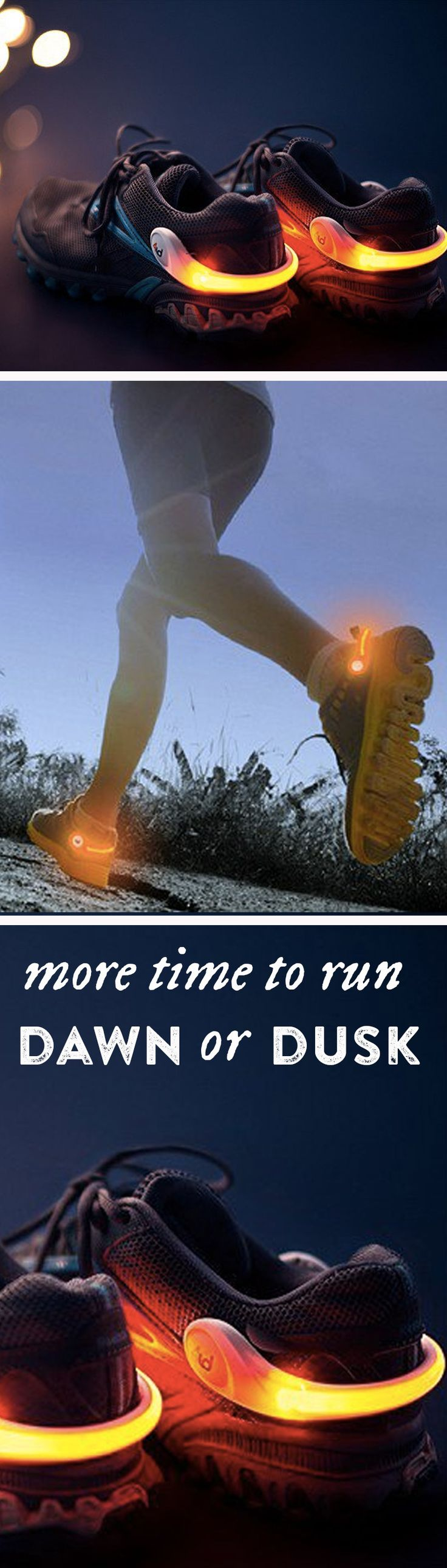 Wearable safety lights. Early morning and evening hours are often the only time busy people can fit in a run or a bike ride.  It's dark, and low visibility can make it a dangerous time to be out and about.