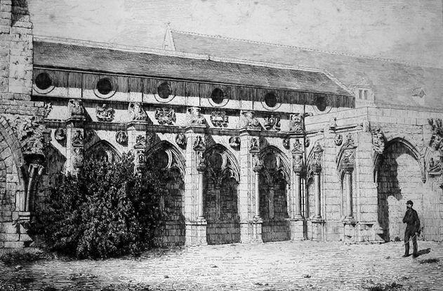 Saint-Jean-des-Vignes : cloitre de la renaissance avant 1870