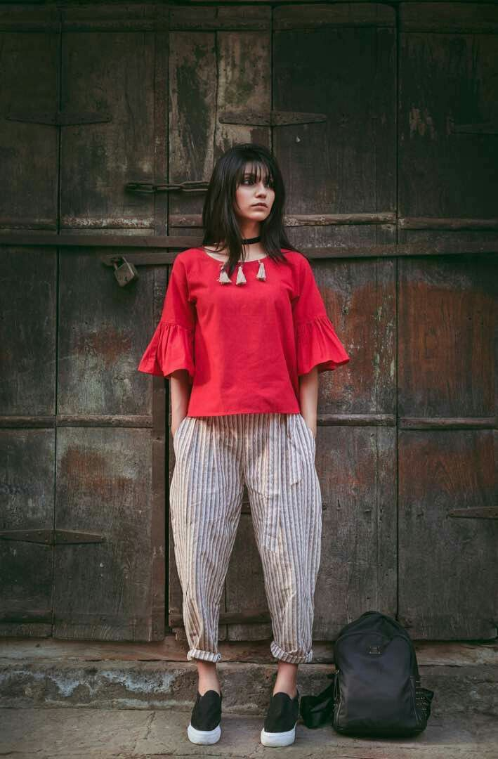 Fabric for ankle length casual pant and top Pure khadi (100% linen) Embellished with jute laces and tassels Total Both pic -1750 Single also available Pant M - (26-34)XL- (36-40) length : 33 Appeoximate Top M-36 XL-40 Some are free size can fit any one Ready to ship Reseller welcome Call or whtsapp us on +919898221286 Singel available Ask us for full catalogue Email :Zalaexports@gmail.com #fiji #USA #Russia #UK #dubai #Europe #southasian #Asia #Pakistan #NewZealand #Australia