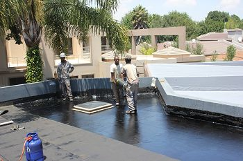 Tremco is a waterproofing contractor. Waterproofing done in Gauteng on concrete slabs.