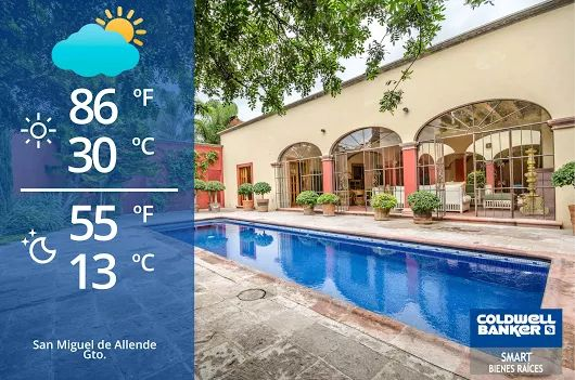 San Miguel de Allende Weather! Partially #cloudy again a lot of ‪#sun‬! But! Carry an umbrella just in case. #clima #weather #mexico