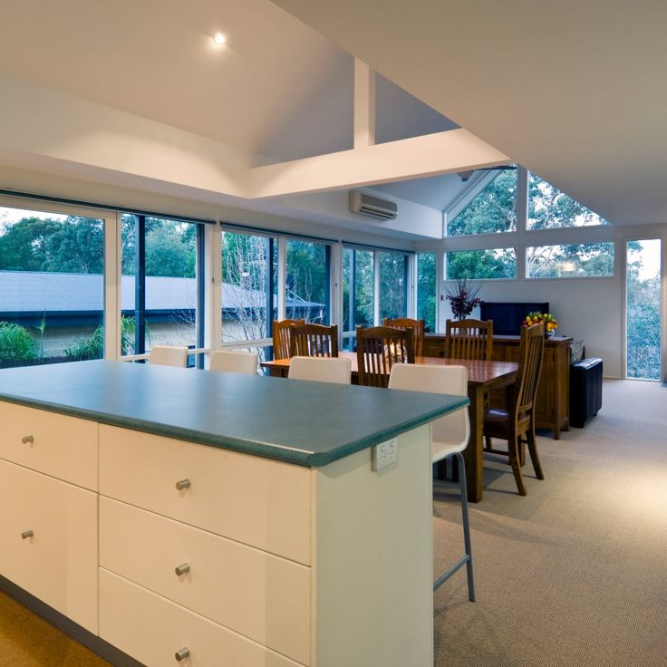 There's nothing like a wall of windows and a high ceiling to give the impression of a large space!