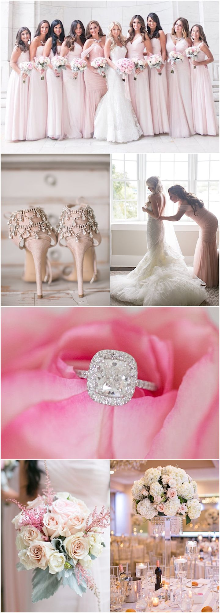 Featured Photographer: Amy Rizzuto; pink wedding ideas