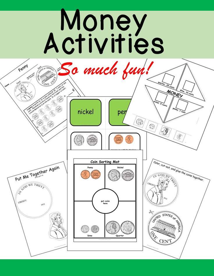 Interactive activities to teach money.