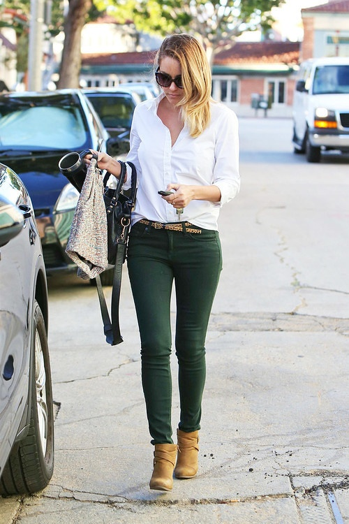How to Wear Green: St.Patrick's Day Outfit Ideas. Green Skinny JeansGreen  ... - Best 25+ Dark Green Jeans Ideas On Pinterest Colored Skinny