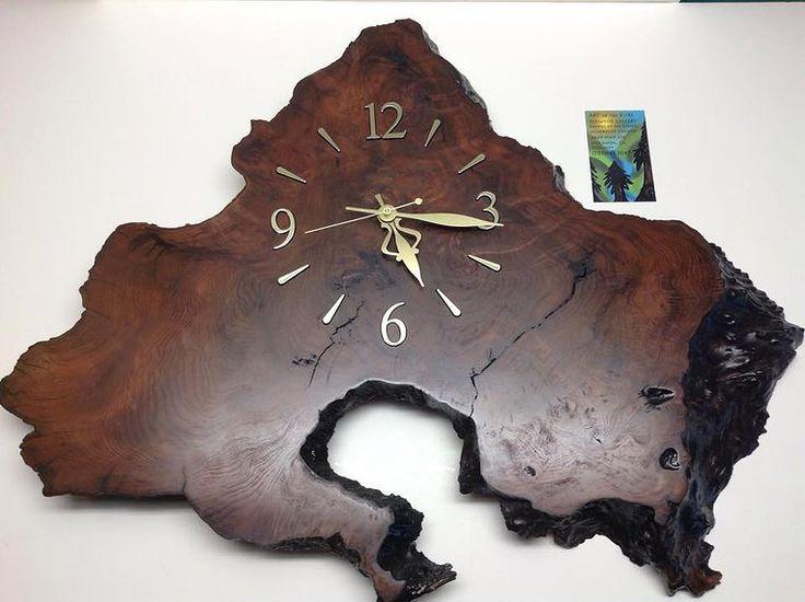 redwood burl clock - Google Search