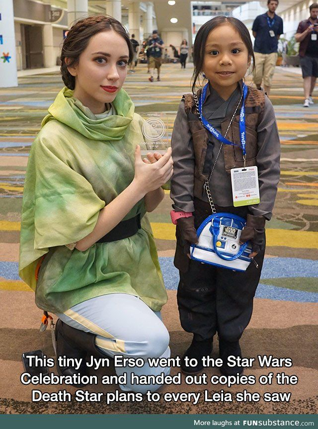 So cute! Rogue One cosplay