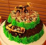 Party Cakes Digger Dump Truck Cake