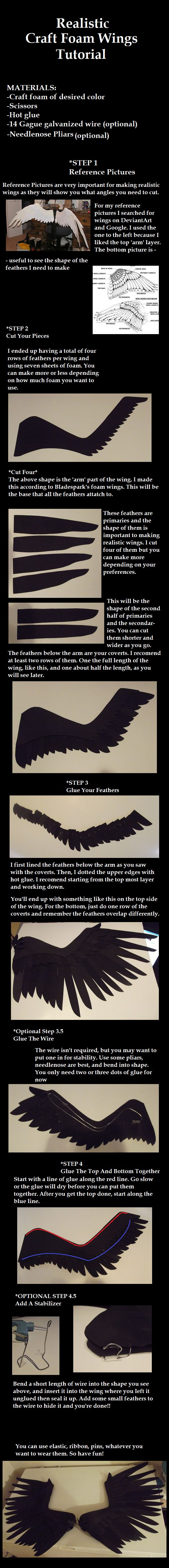 Realistic Foam Wings Tutorial by Zexion-the-gamer.deviantart.com