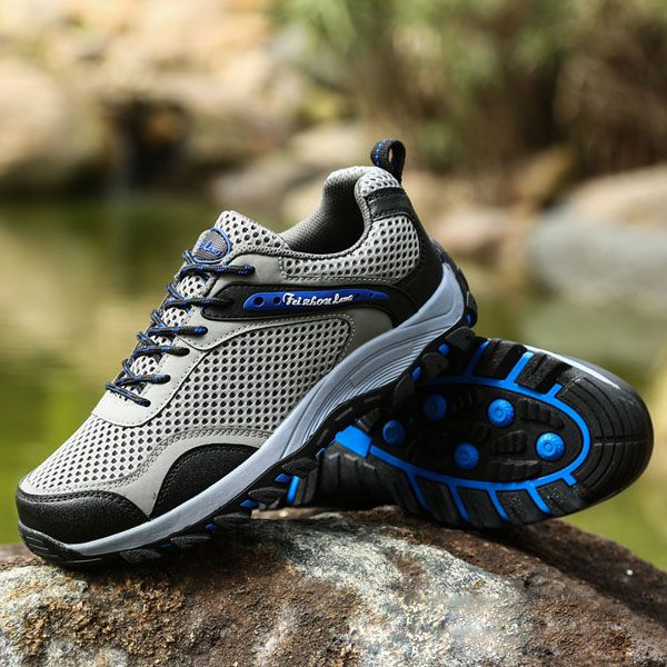 Unisex Sport Running Shoes Mesh Outdoor Casual Lace Up Flats