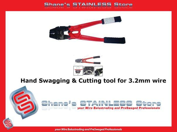 Hand Swagging  Cutting Tool: *Great tool for a professional finish. *Easy to use. *Tradesman quality product. *Use to swage wires when purchasing DIY kits. #Stainless #Steel #Balustradetool