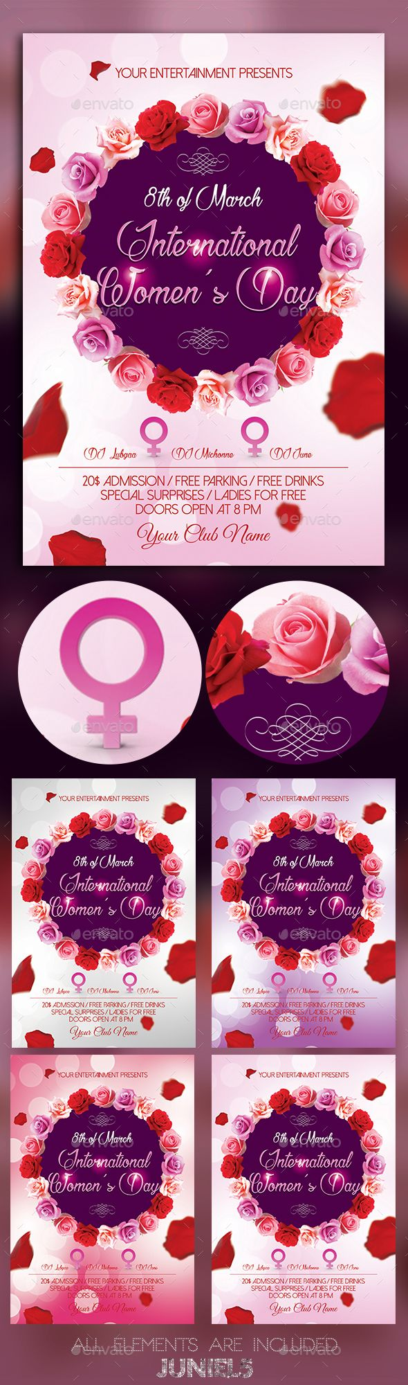 International Womens Day Flyer Template PSD. Download here: http://graphicriver.net/item/international-womens-day-/14963899?ref=ksioks